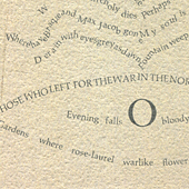 Calligrams by Guillaume Apollinaire